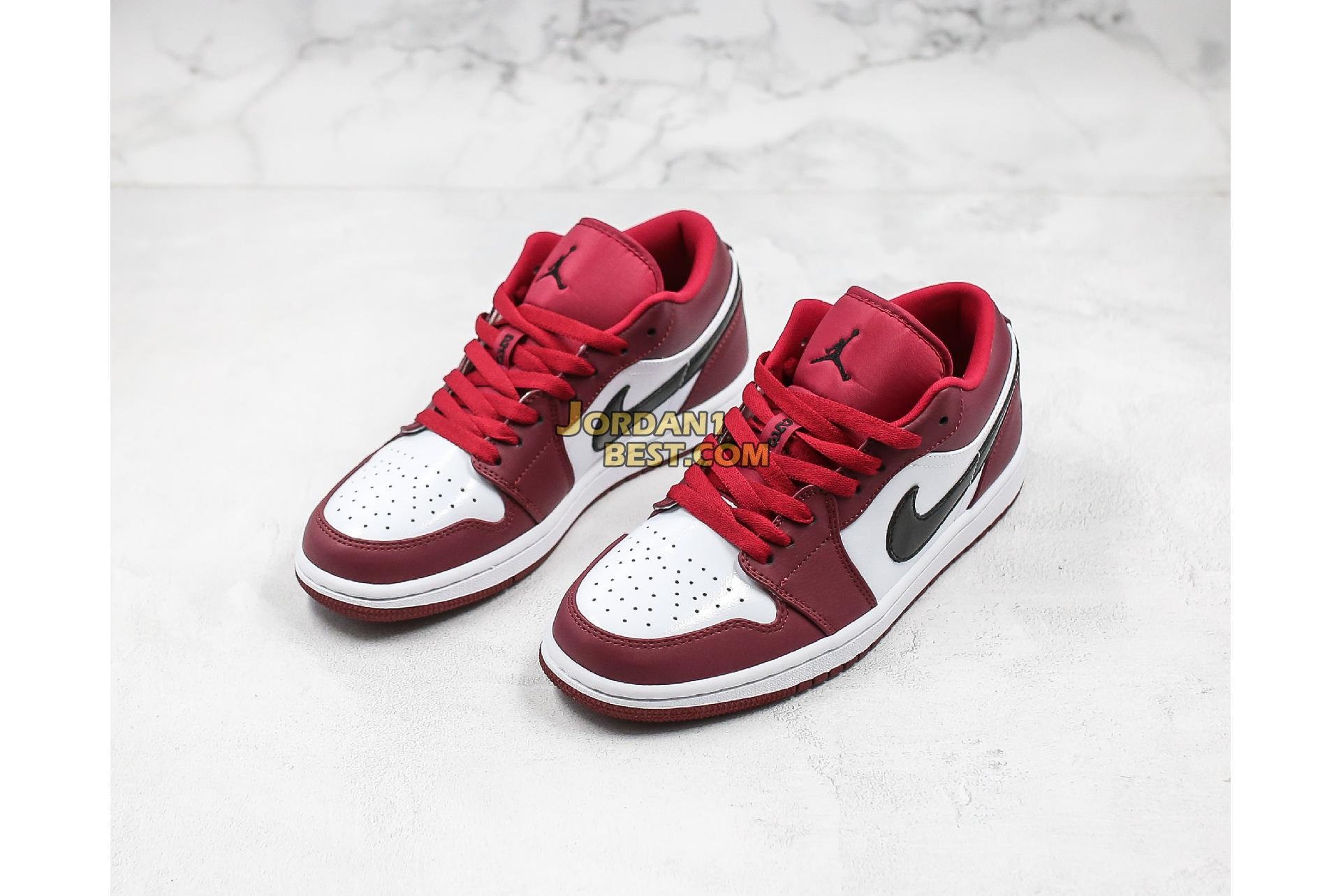 "2019 Air Jordan 1 Low ""Noble Red"" 553558-604 Mens Womens"