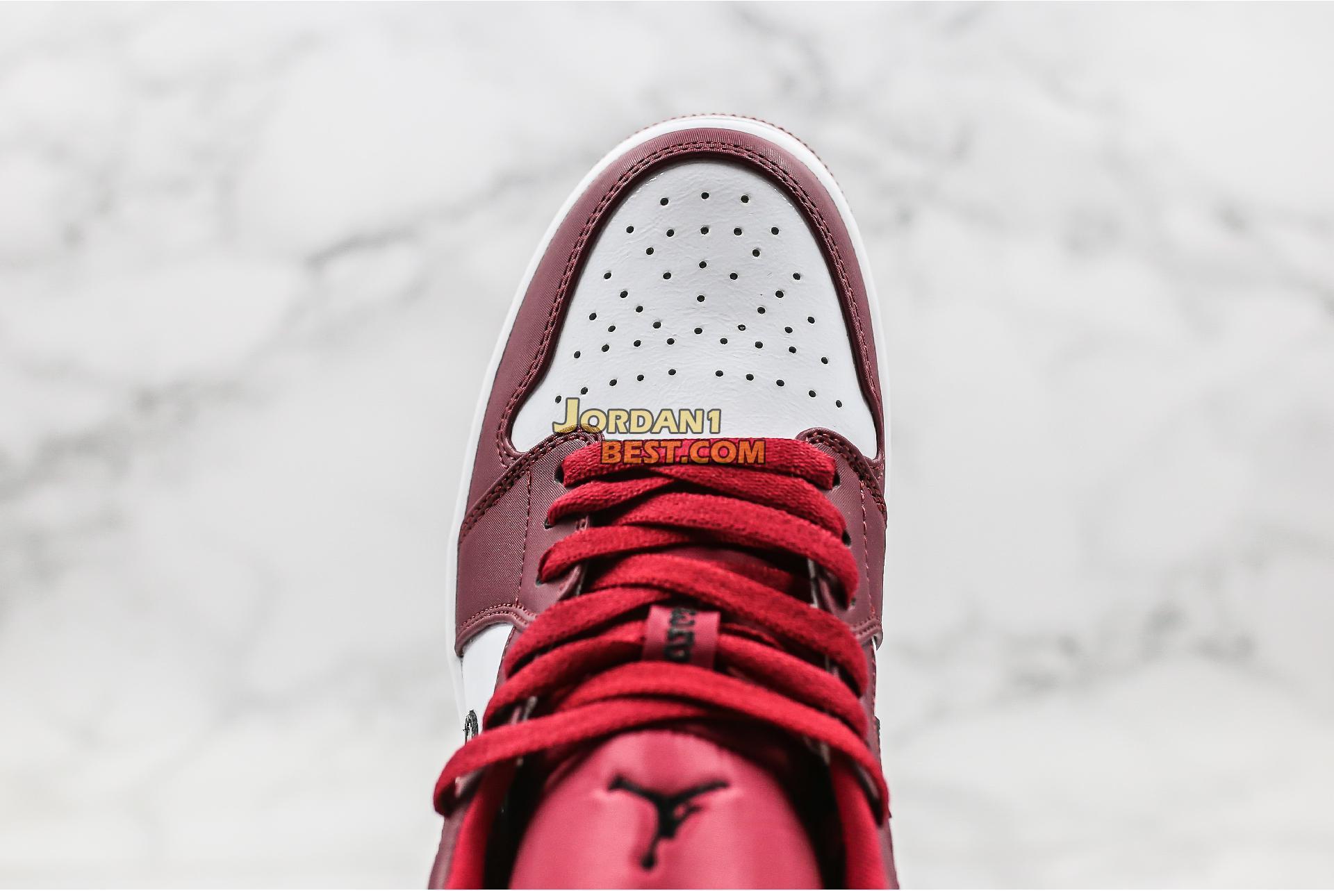 """2019 Air Jordan 1 Low """"Noble Red"""" 553558-604 Mens Womens"""