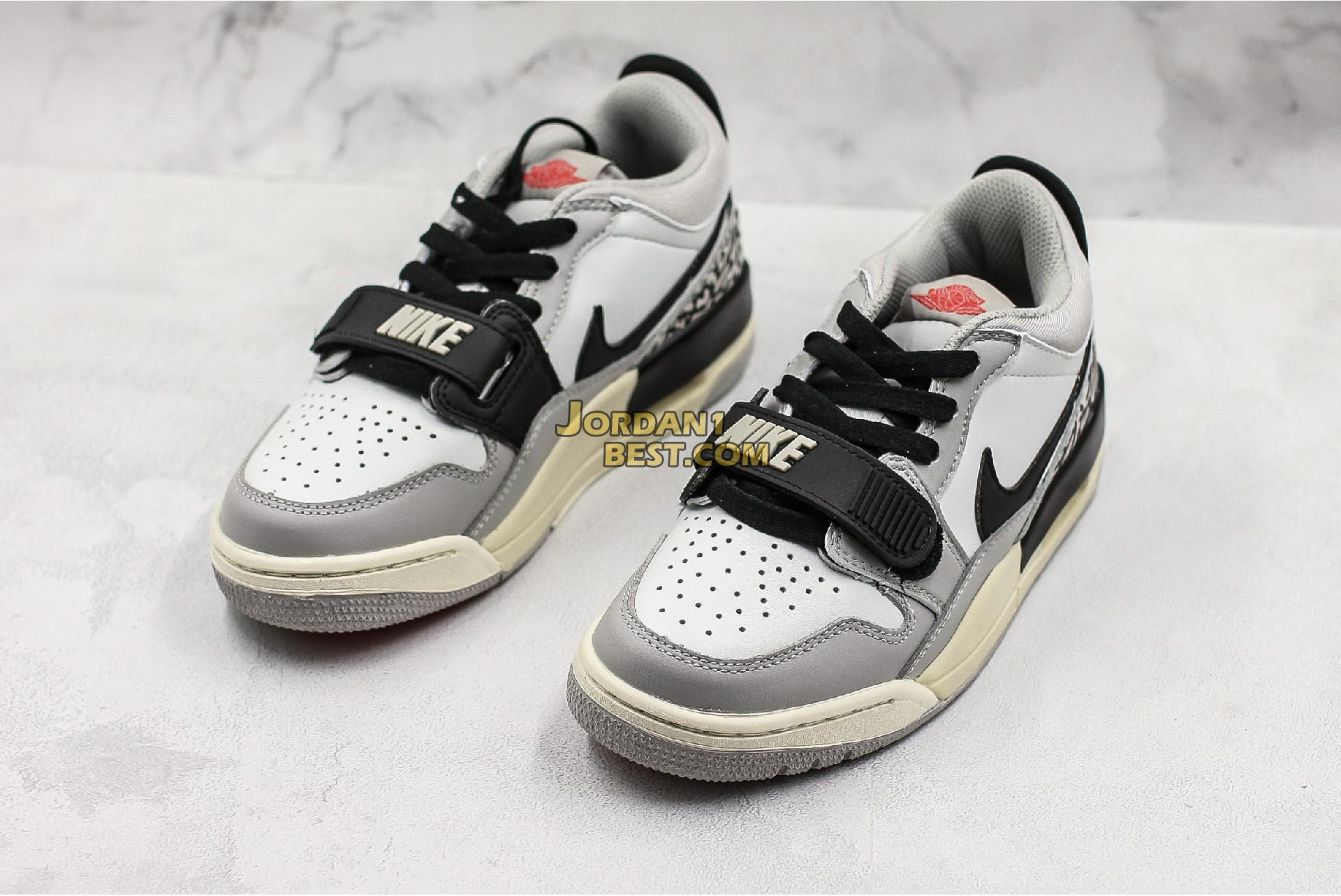 "Air Jordan Legacy 312 Low GS ""Tech Grey Cement"" CD9054-101 Mens"