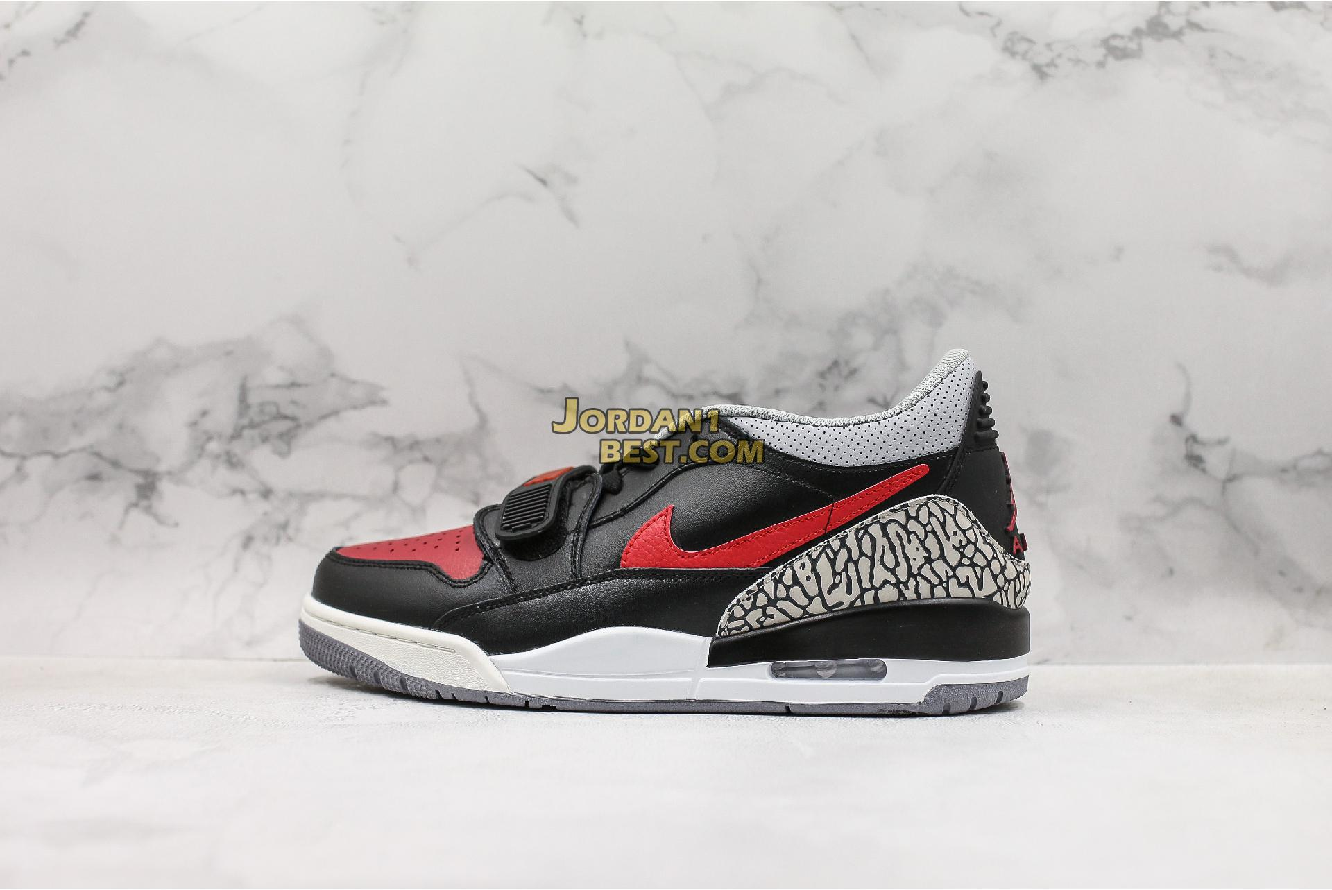 "Air Jordan Legacy 312 Low ""Bred Cement"" CD7069-006 Mens"