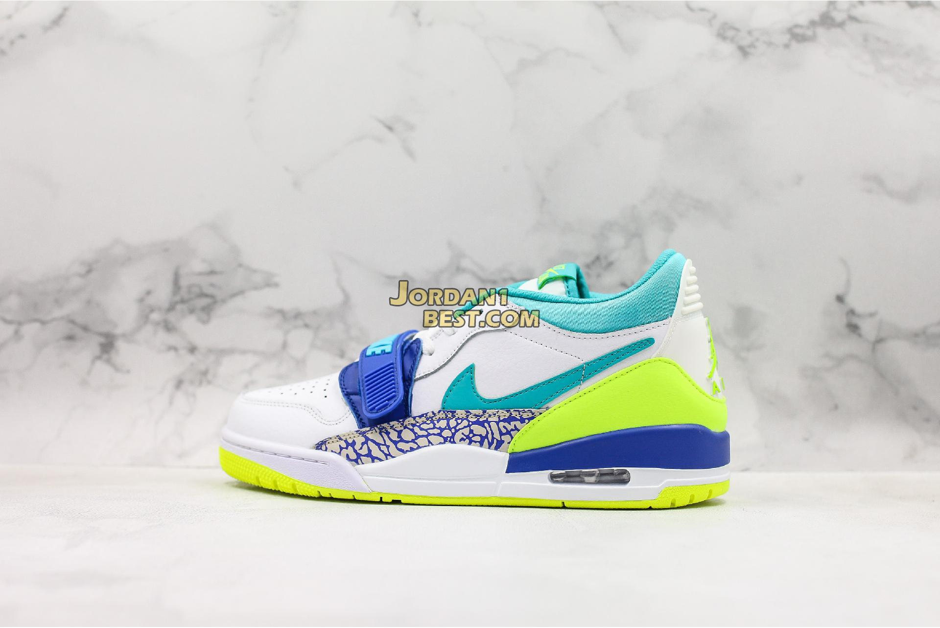 "Air Just Don x Jordan Legacy 312 Low ""Neon Aquamarine"" CD7069-103 Mens"