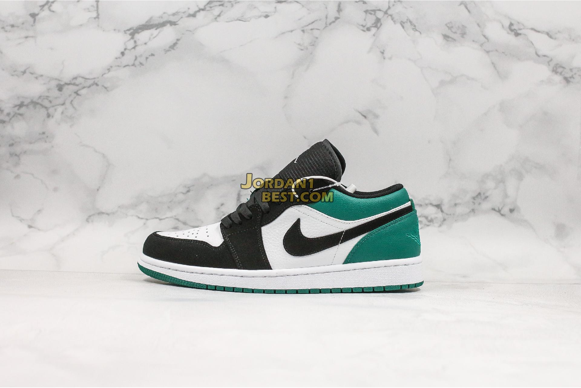 "Air Jordan 1 Low ""Mystic Green"" 553558-113 Mens Womens"