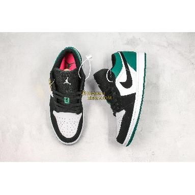 "fake Air Jordan 1 Low ""Mystic Green"" 553558-113 Mens Womens white/black-mystic green Shoes replicas On Wholesale Sale Online"