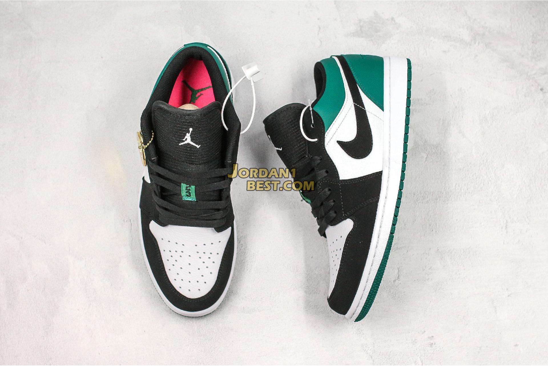 """Air Jordan 1 Low """"Mystic Green"""" 553558-113 Mens Womens"""