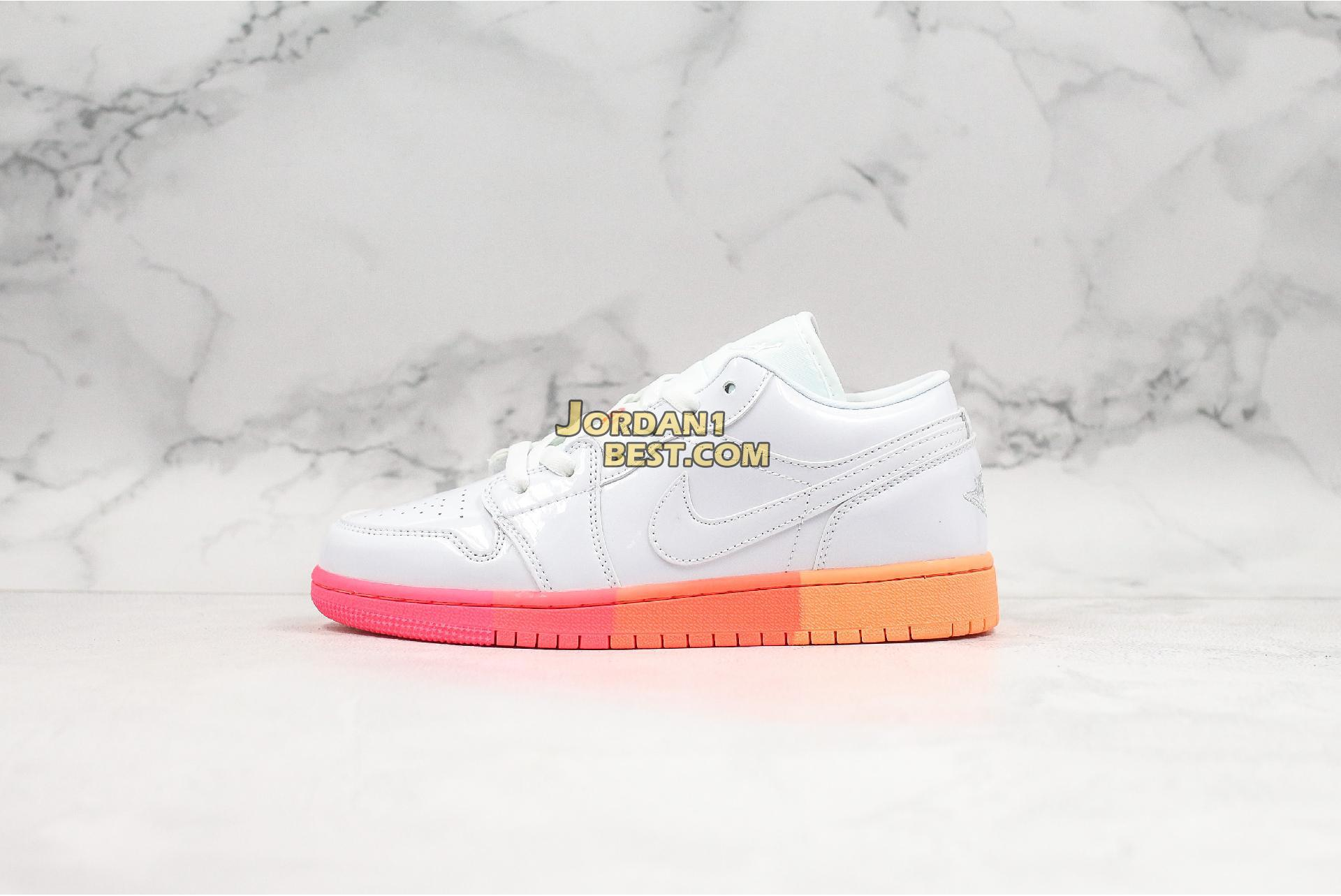 "Air Jordan 1 Low GS ""Sunset Sole"" 554723-100 Womens"