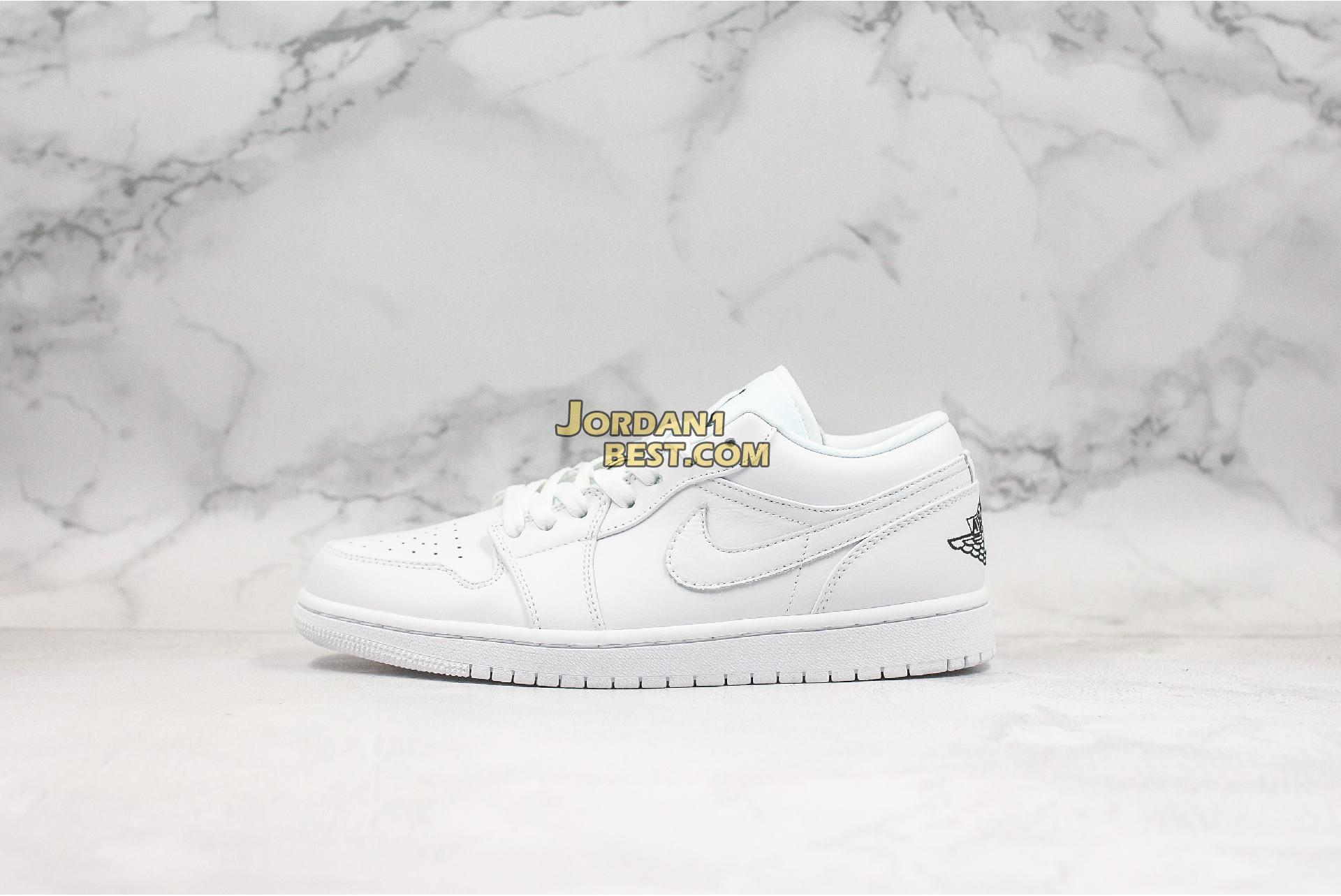 "Air Jordan 1 Low GS ""White Black"" 553560-101 Mens Womens"