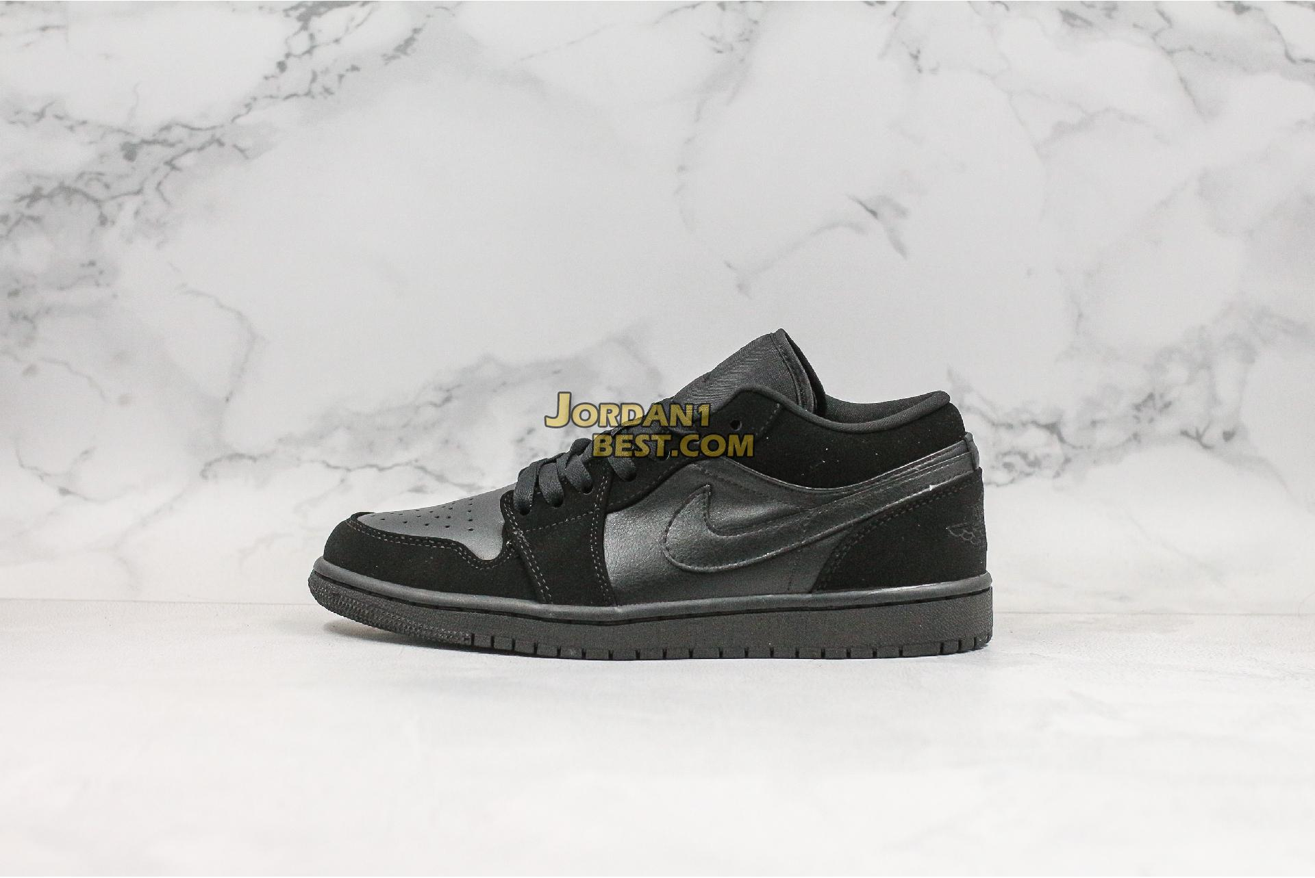 "Air Jordan 1 Low Retro ""Triple Black"" 553558-025 Mens Womens"