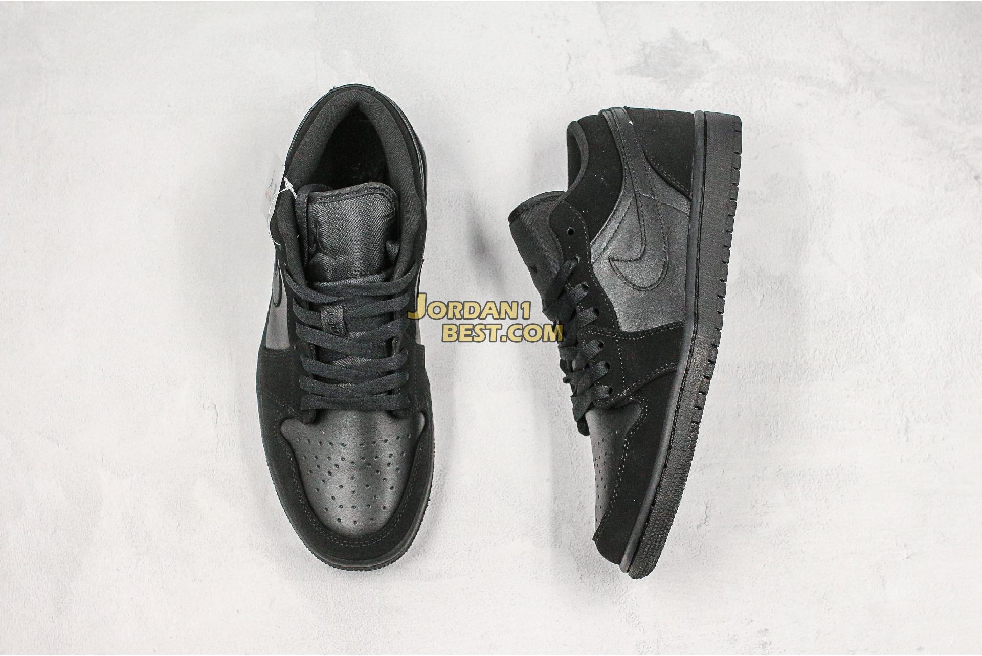 """Air Jordan 1 Low Retro """"Triple Black"""" 553558-025 Mens Womens"""