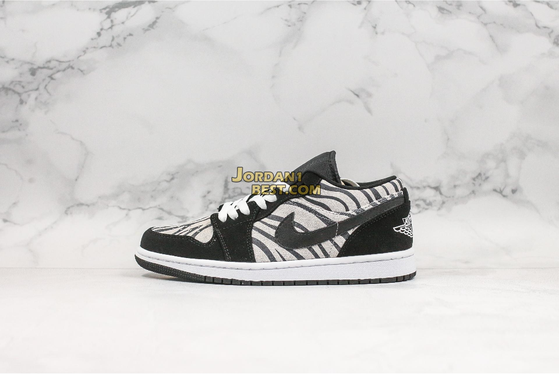 "Air Jordan 1 Low GS ""Zebra"" 553560-057 Mens Womens"