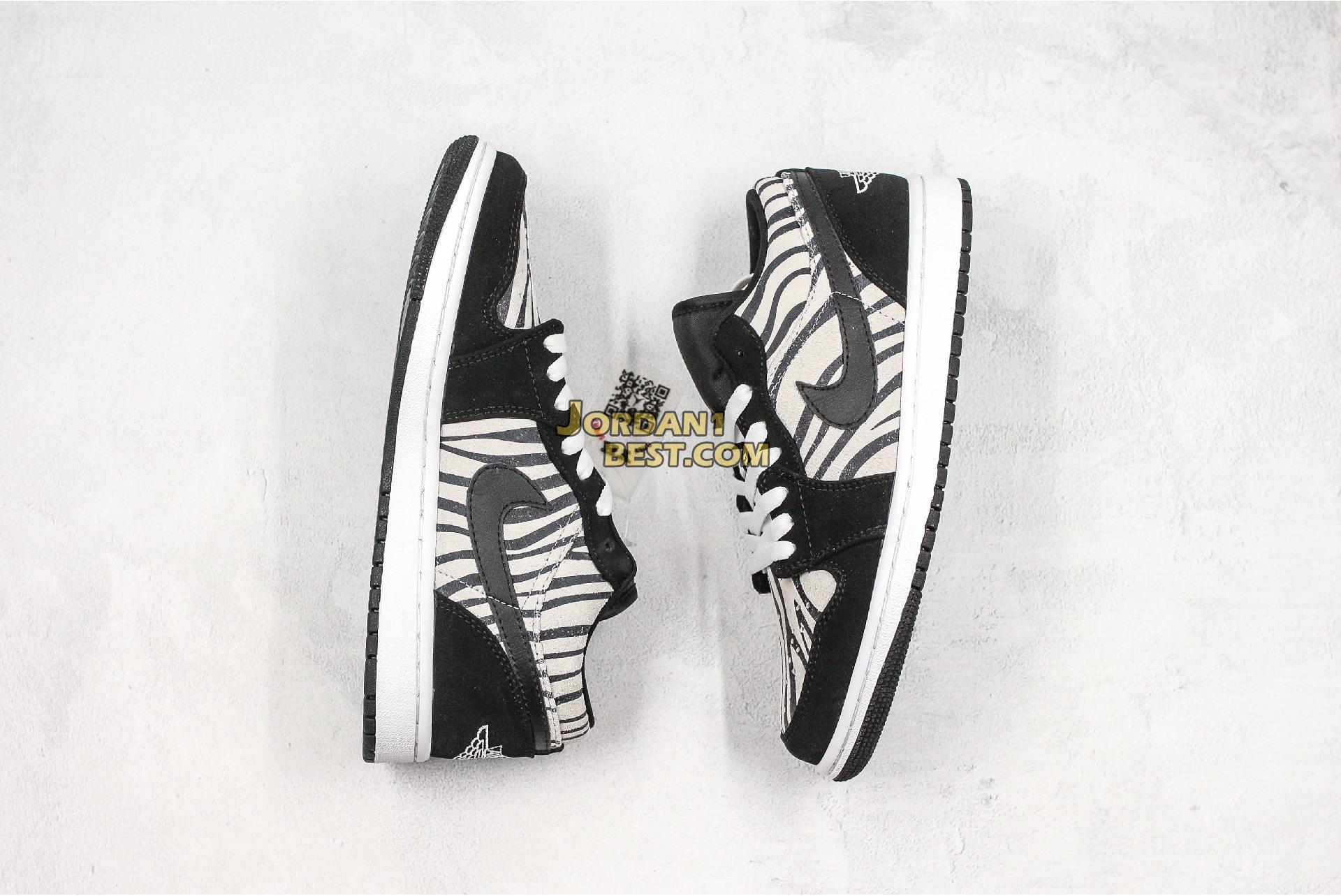 """Air Jordan 1 Low GS """"Zebra"""" 553560-057 Mens Womens"""
