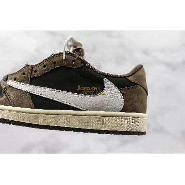"new replicas Travis Scott x Air Jordan 1 Low ""Mocha"" CQ4277-001 Mens black/dark mocha-university red-sail Shoes replicas On Wholesale Sale Online"