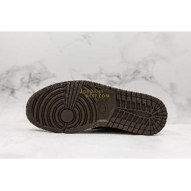 "new replicas Travis Scott x Air Jordan 1 Low ""Mocha"" CQ4277-001 Mens black/dark mocha-university red-sail Shoes replicas On Wholesale Sale Online"