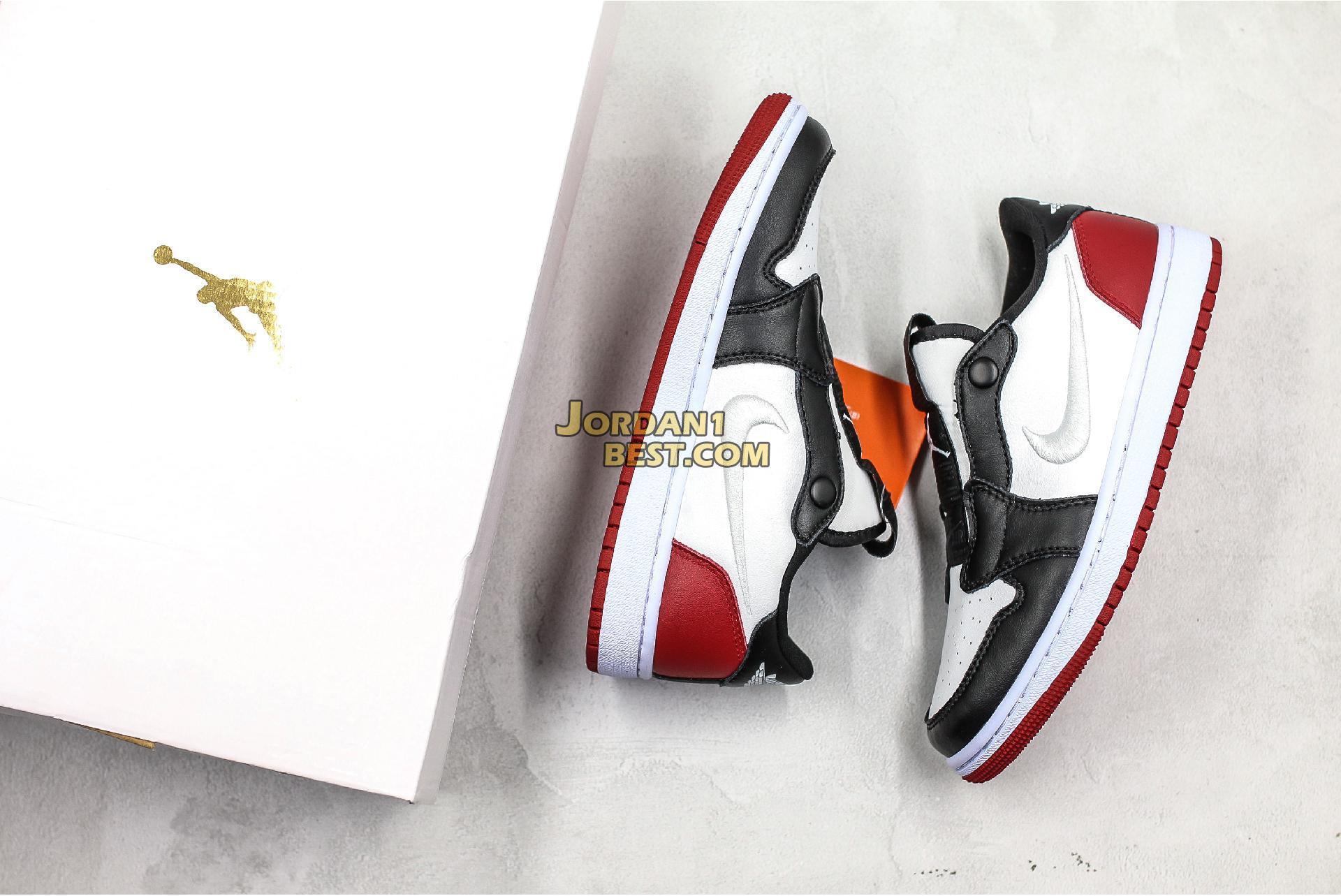 "Air Jordan 1 Low Slip ""Black Toe"" AV3918-102 Mens Womens"