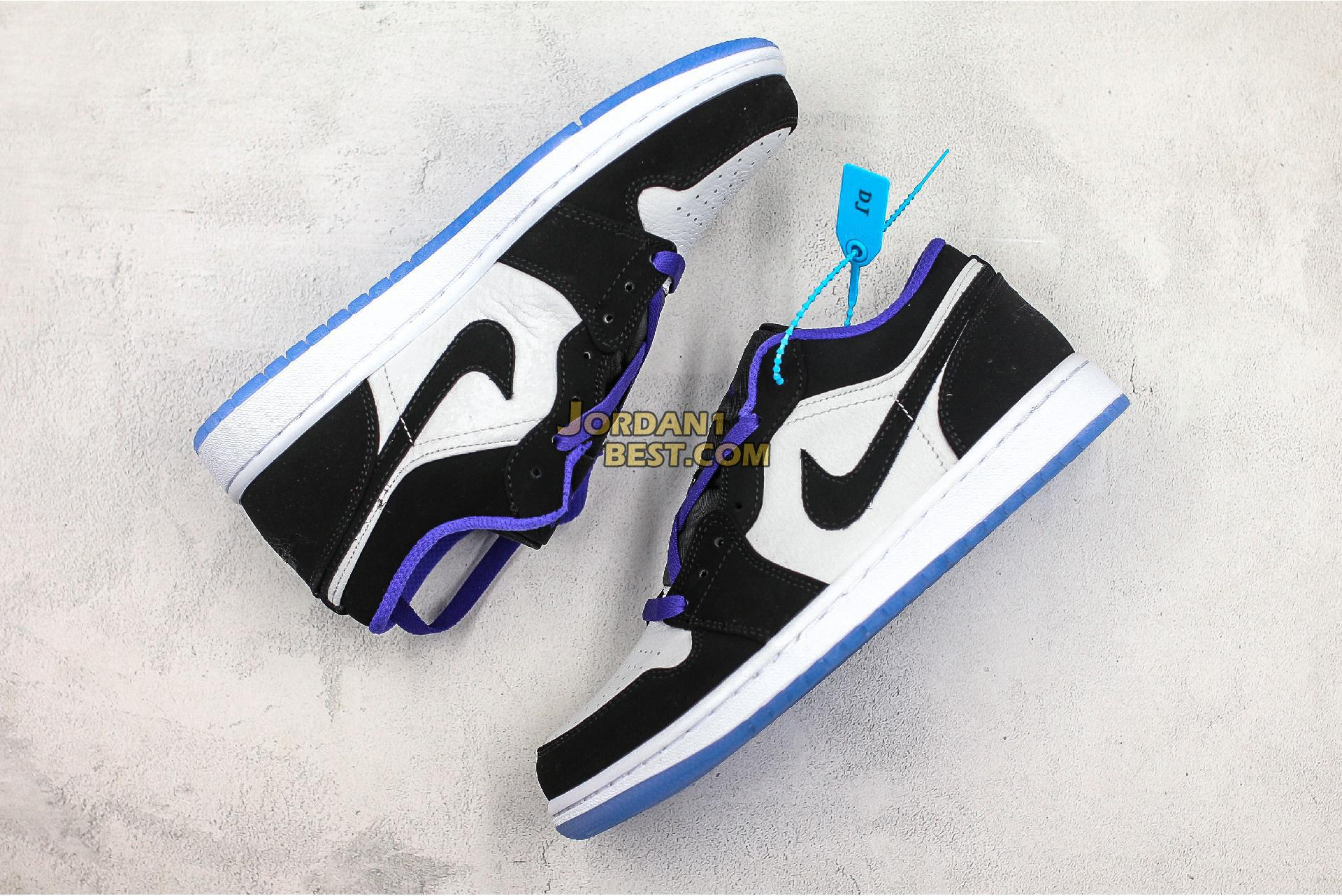 """Air Jordan 1 Low """"Concord"""" 553558-108 Mens"""