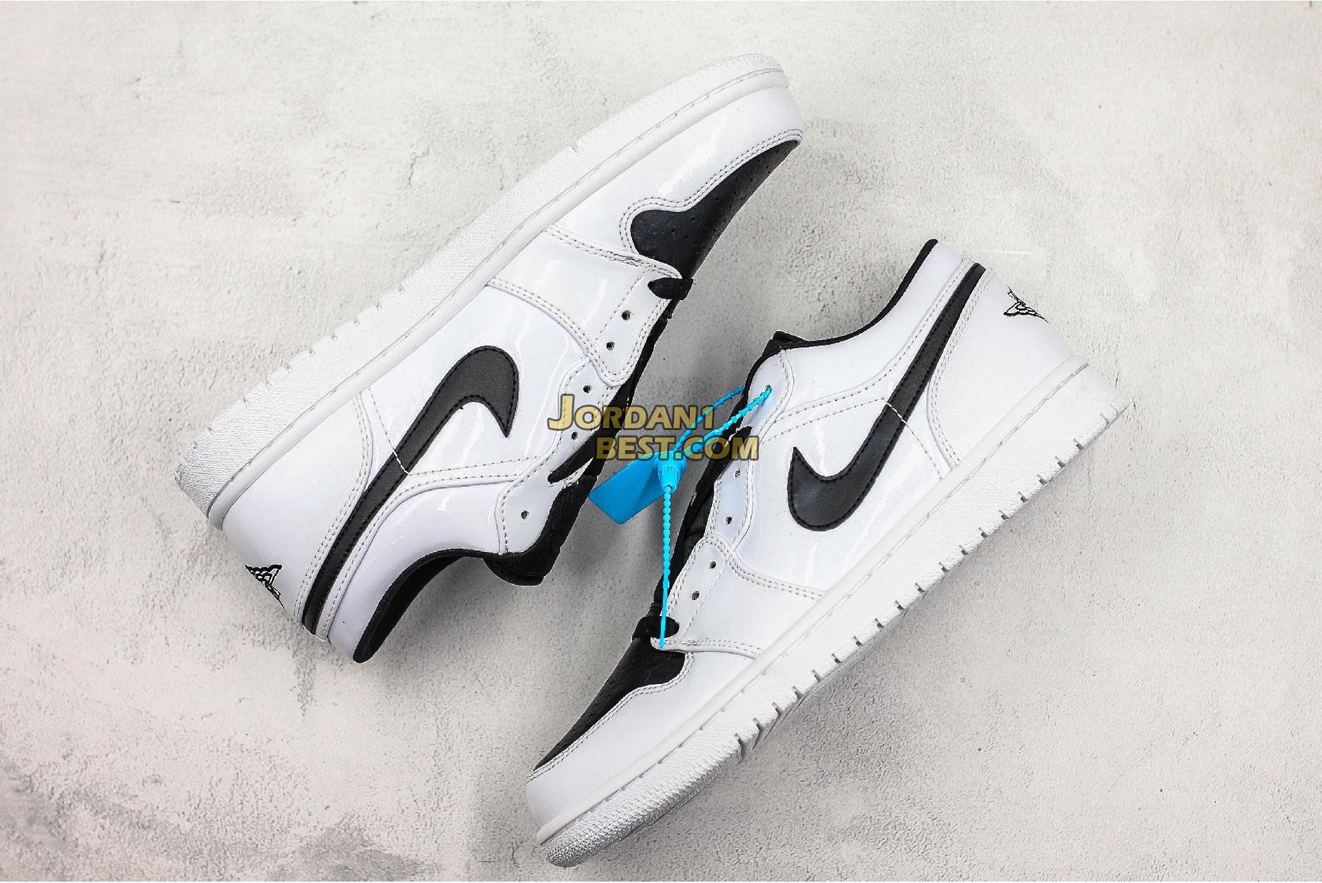 "Air Jordan 1 Retro Low GS ""White Black"" 553560-103 Mens Womens"