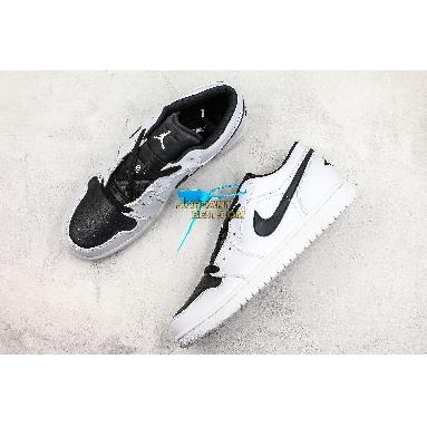 "top 3 fake Air Jordan 1 Retro Low GS ""White Black"" 553560-103 Mens Womens white/black Shoes replicas On Wholesale Sale Online"