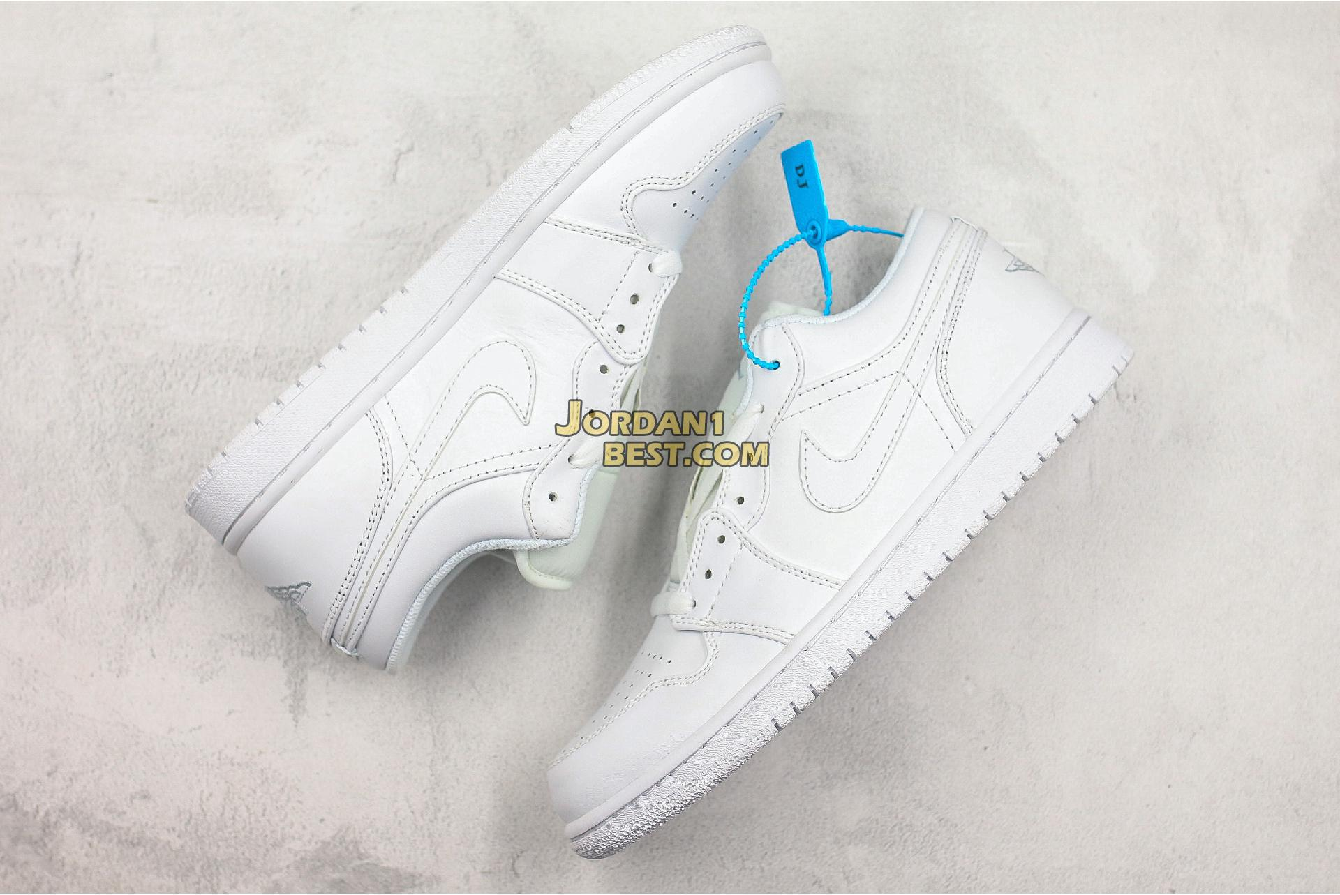 "Air Jordan 1 Retro Low ""Pure Platinum"" 553558-170 Mens Womens"