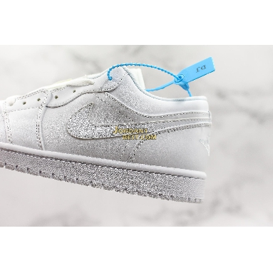 "top 3 fake Air Jordan 1 Retro Low ""Pure Platinum"" 553558-170 Mens Womens white/white Shoes replicas On Wholesale Sale Online"