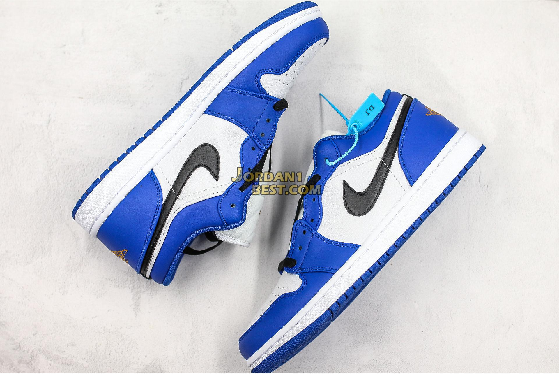 "Air Jordan 1 Retro Low ""Hyper Royal"" 553558-401 Mens Womens"