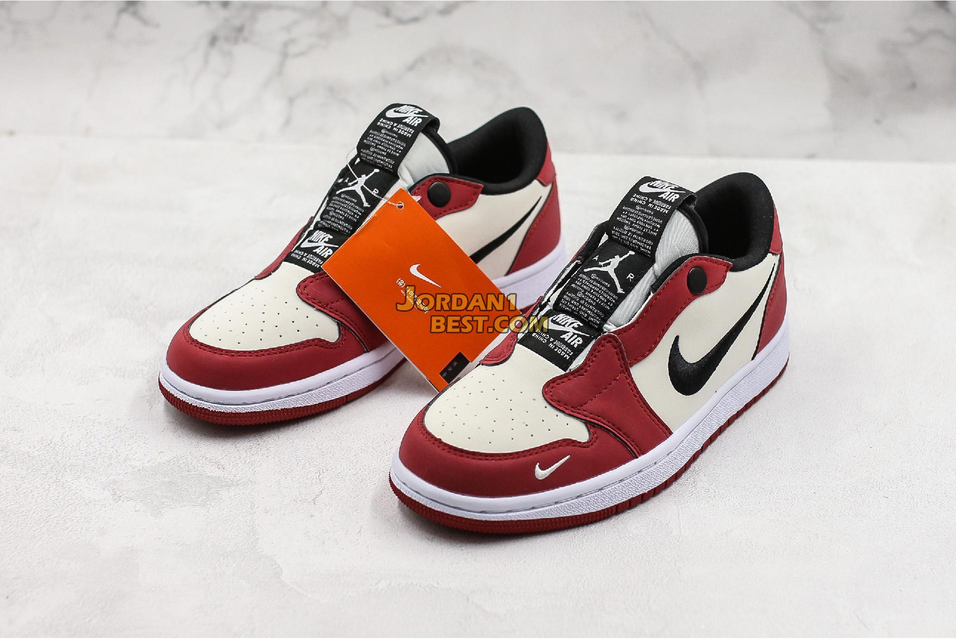 "Air Jordan 1 Low Slip ""Chicago"" BQ8462-601 Mens Womens"