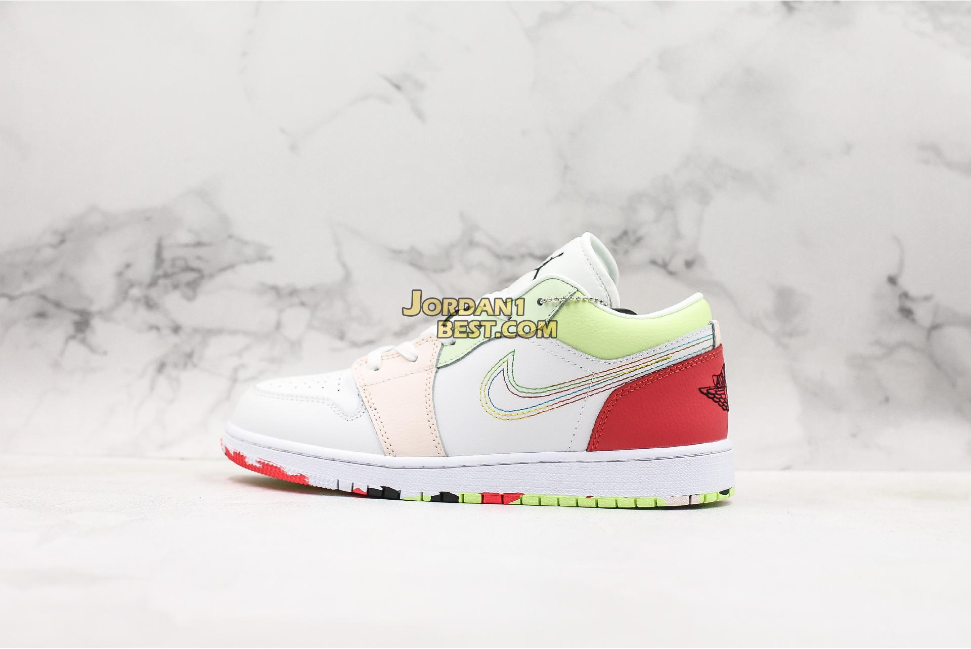 "Air Jordan 1 Low GS ""Ember Glow"" 554723-176 Womens"