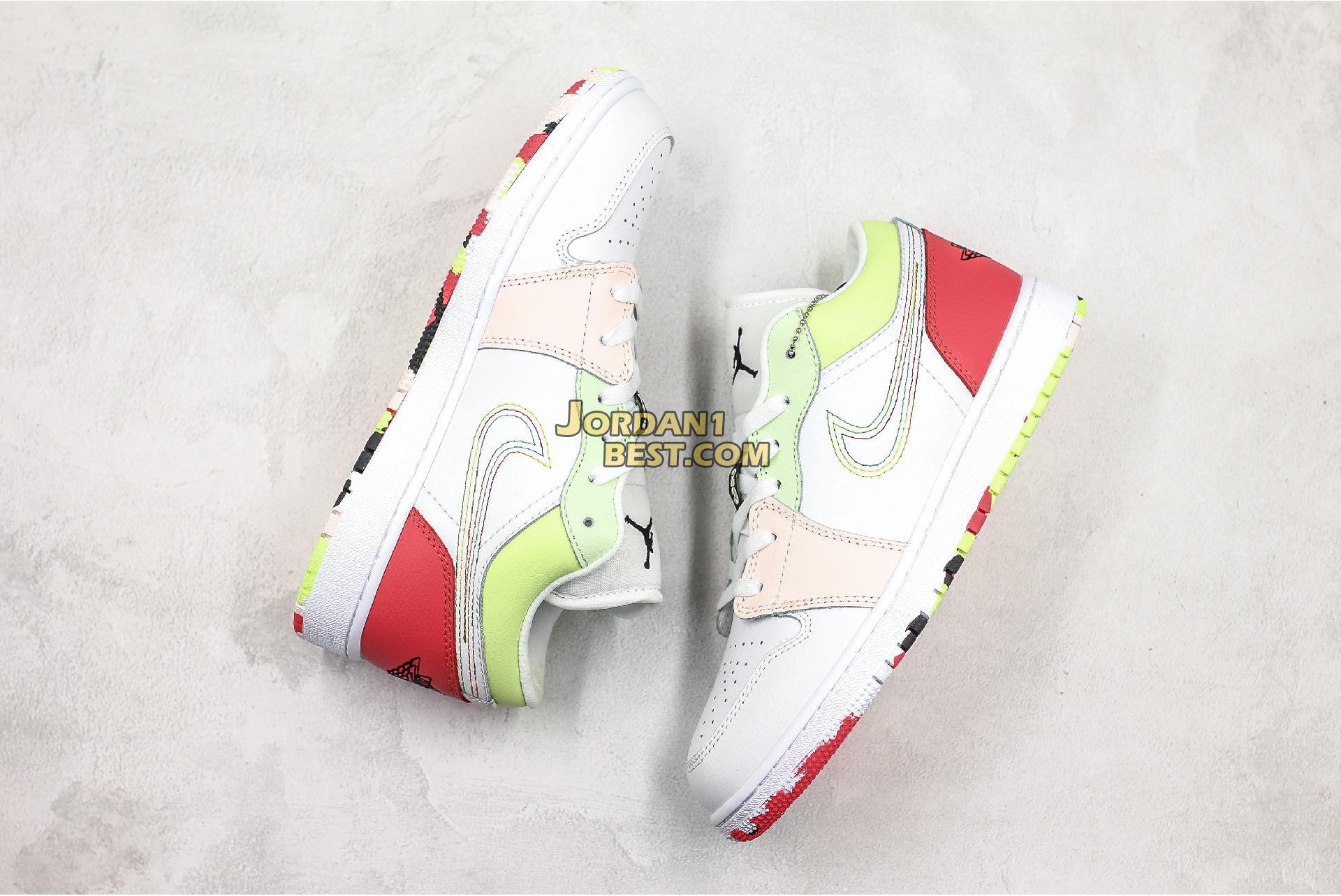"""Air Jordan 1 Low GS """"Ember Glow"""" 554723-176 Womens"""