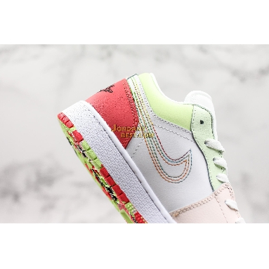 "AAA Quality Air Jordan 1 Low GS ""Ember Glow"" 554723-176 Womens white/ember glow-barely volt-black Shoes replicas On Wholesale Sale Online"