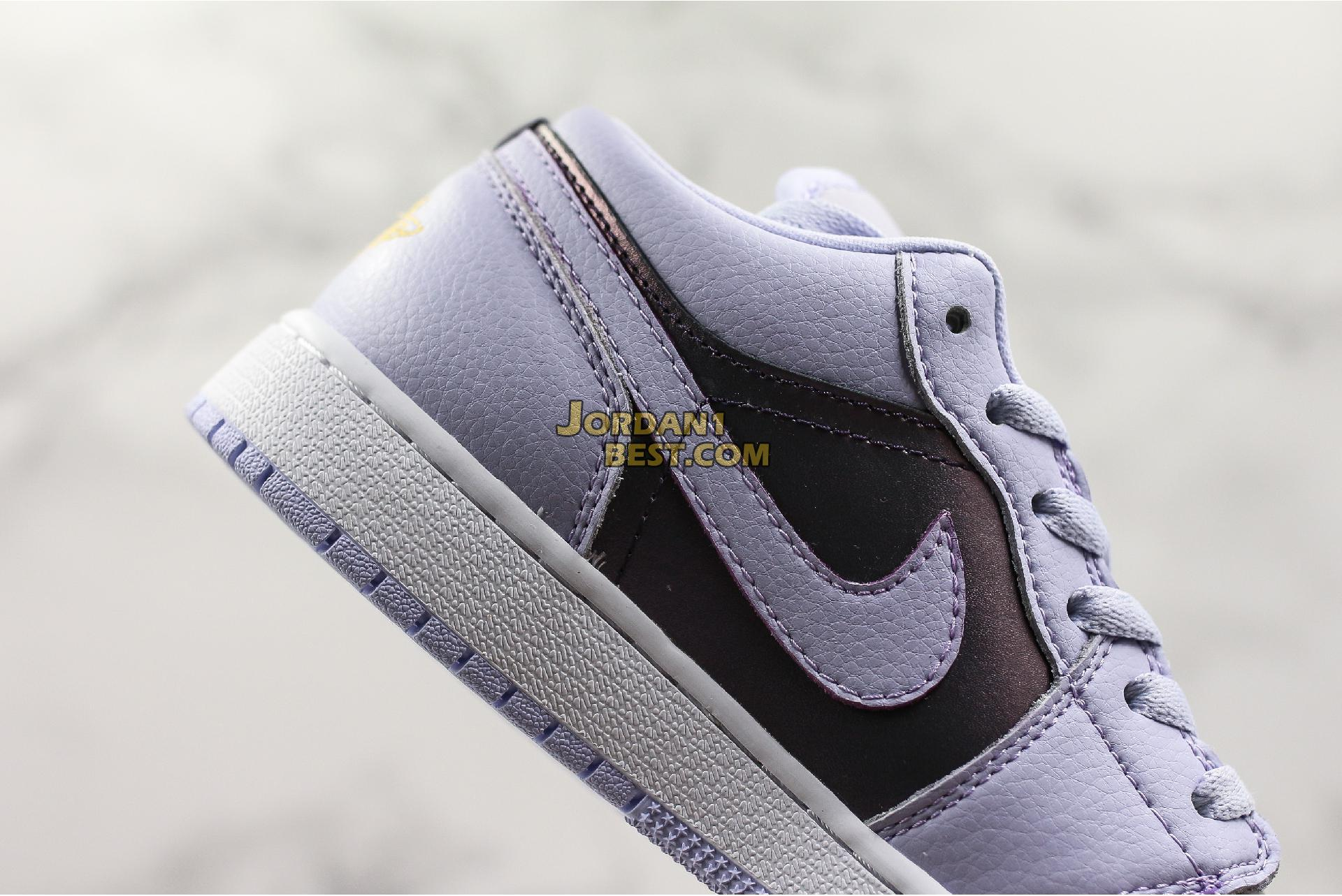 "Air Jordan 1 Low GS ""Oxygen Purple"" 554723-505 Womens"