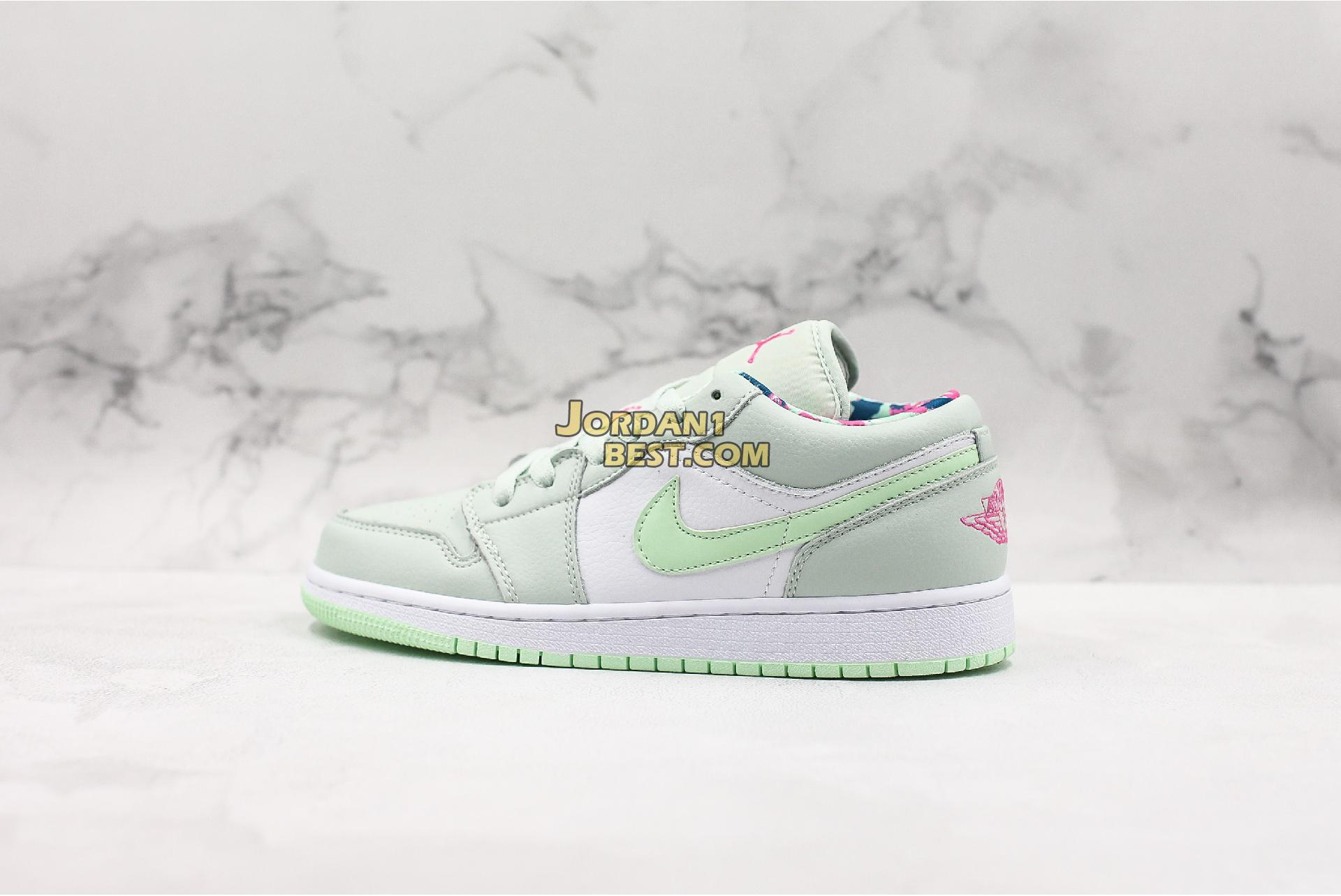 "Air Jordan 1 Low GS ""Barely Grey Spruce"" 554723-051 Womens"