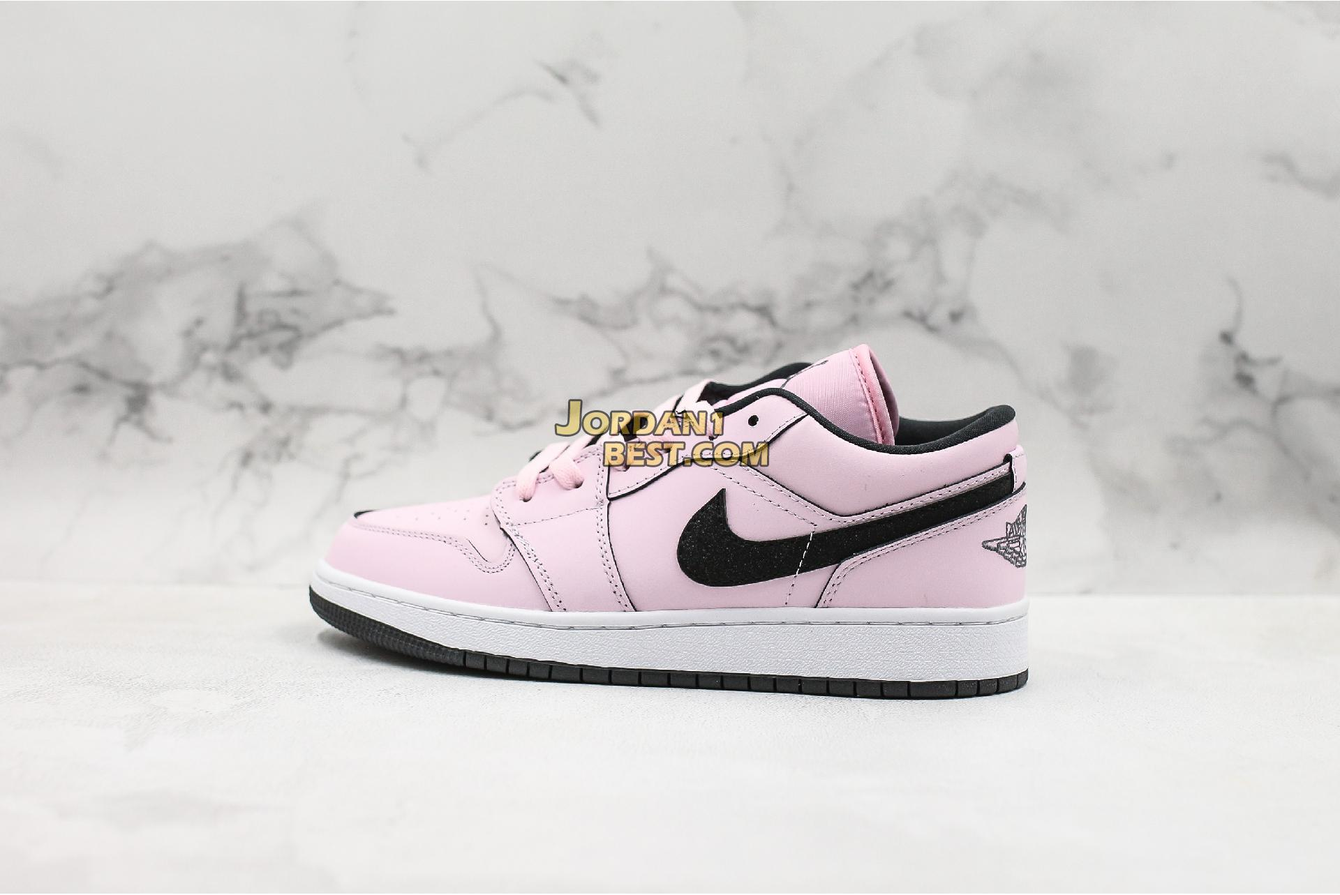 "Air Jordan 1 Low GS ""Pink Foam"" 555112-601 Womens"