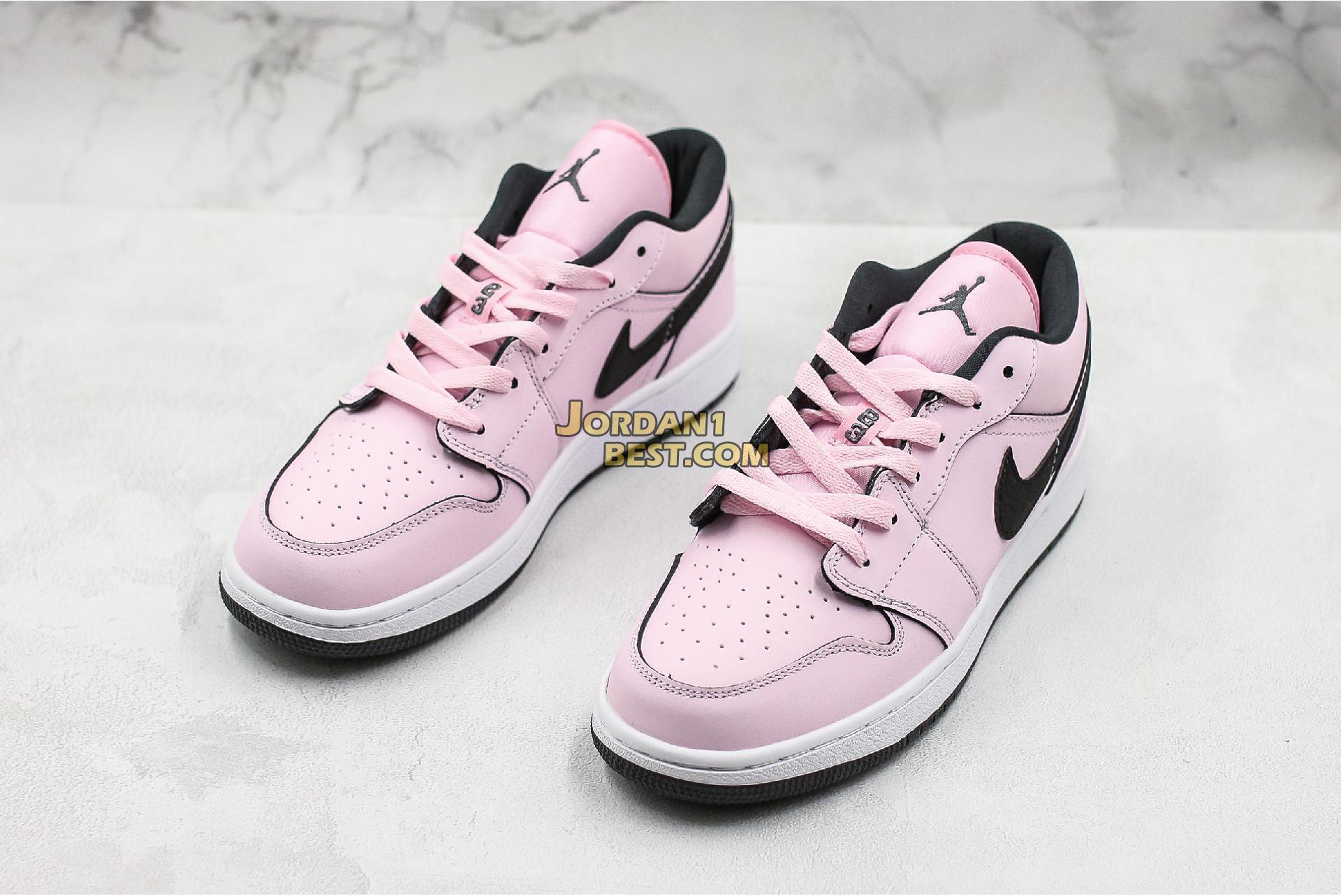 """Air Jordan 1 Low GS """"Pink Foam"""" 555112-601 Womens"""