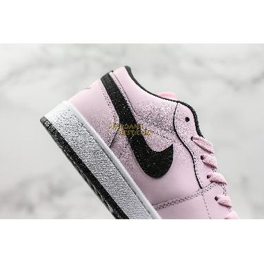 "top 3 fake Air Jordan 1 Low GS ""Pink Foam"" 555112-601 Womens pink foam/black-white Shoes replicas On Wholesale Sale Online"