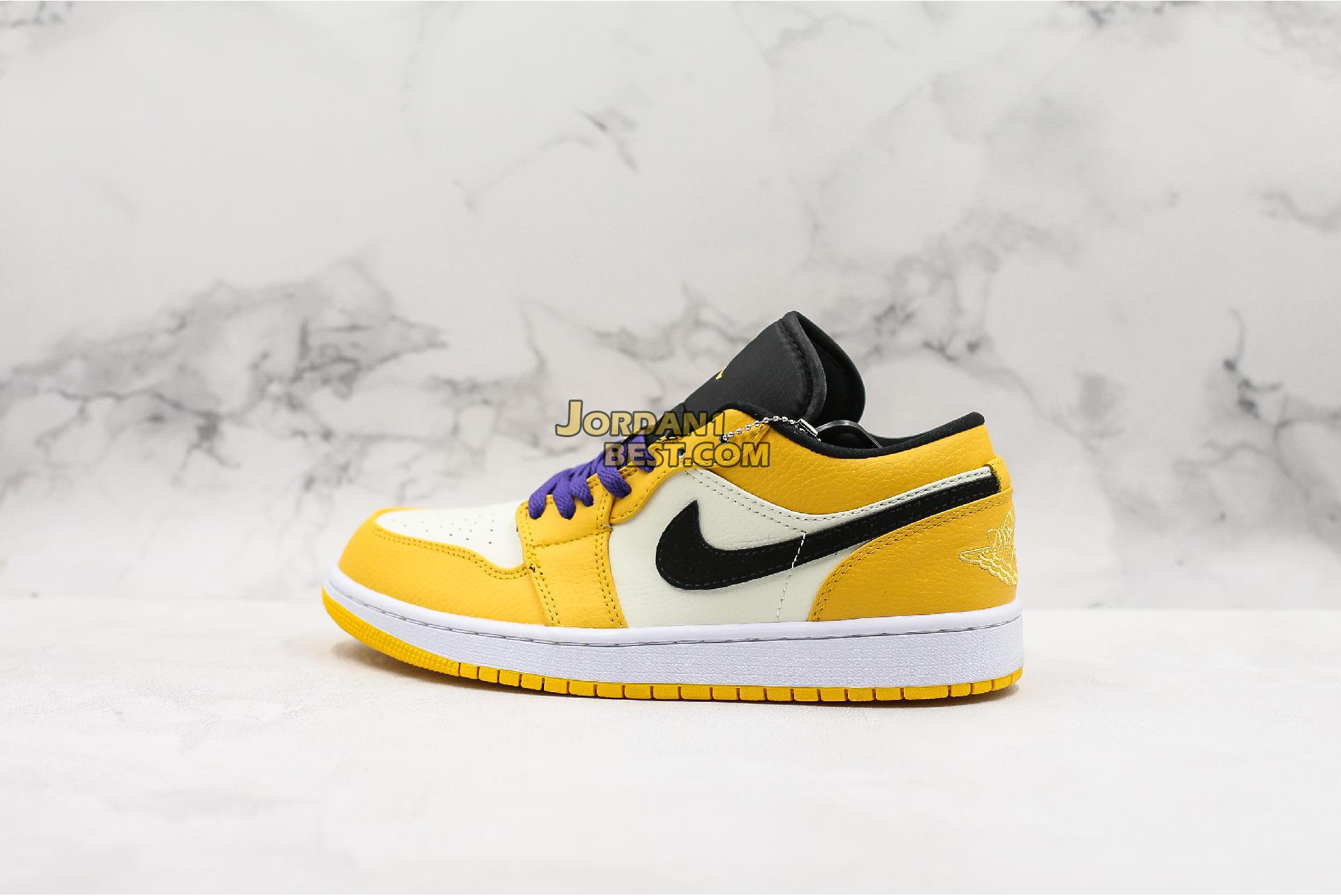 "Air Jordan 1 Low ""Lakers"" 852542-700 Mens"