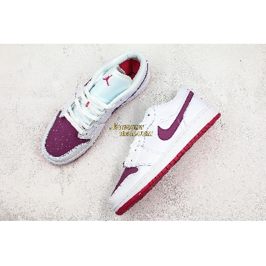 "best replicas Air Jordan 1 Low GS ""White Berry"" 554723-161 Womens white/rush pink-true berry Shoes replicas On Wholesale Sale Online"