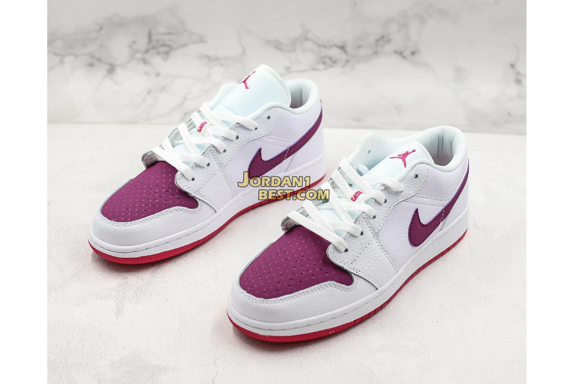 "Air Jordan 1 Low GS ""White Berry"" 554723-161 Womens"