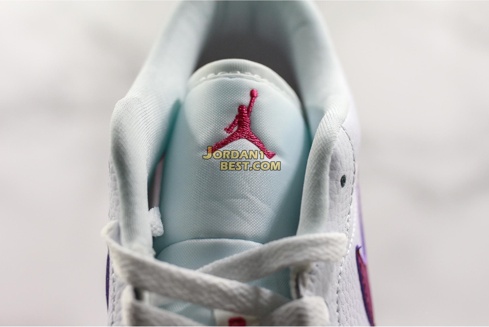 "Air Jordan 1 Low GS ""White Berry"" 554723-161 Womens"