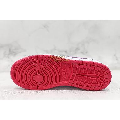 "best replicas Air Jordan 1 Low GS ""White Berry"" 554723-161 Womens white/rush pink-true berry Shoes replicas On Wholesale Sale Online"
