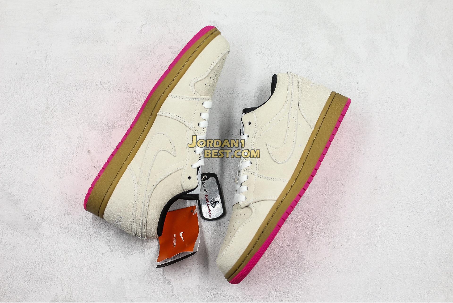 "Air Jordan 1 Low ""White Gym Yellow"" 553558-119 Mens Womens"