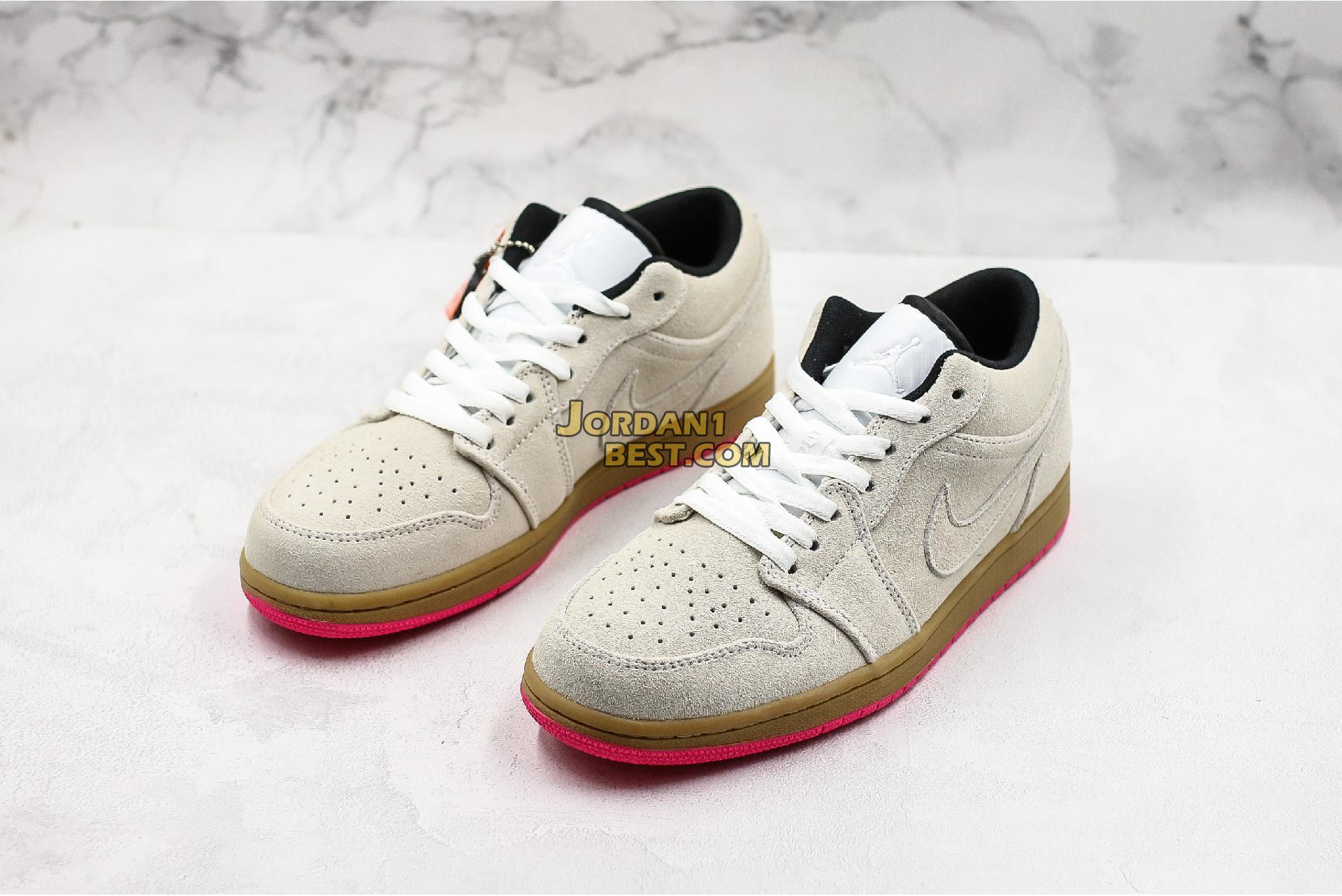 "Air Jordan 1 Low ""White Gym Yellow"" 553558-119 Mens Womens"
