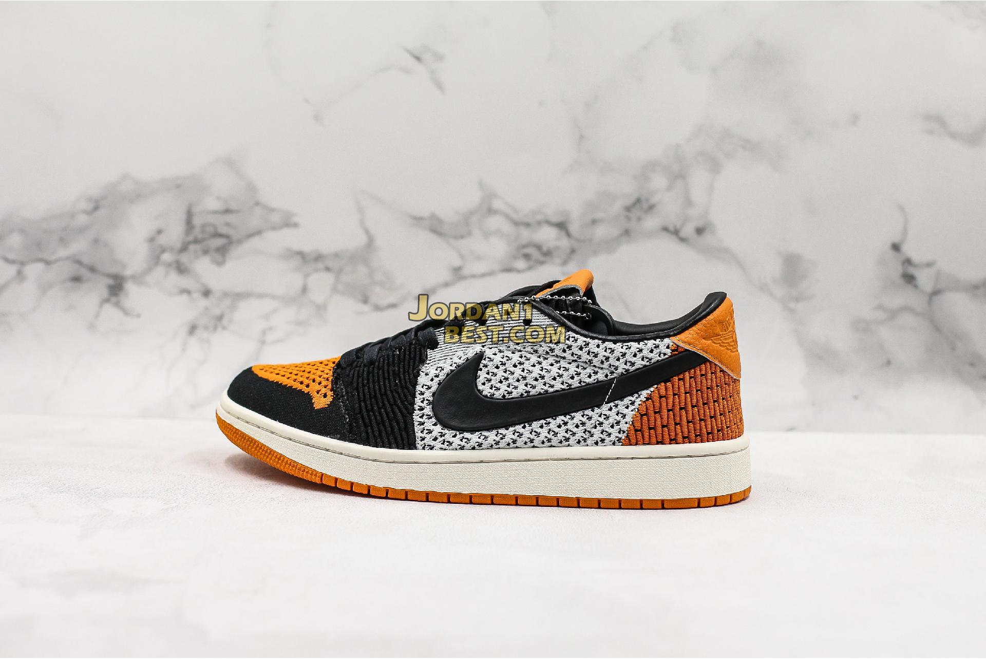 "best replicas Air Jordan 1 Low Flyknit ""Shattered Backboard"" AH4506-100 Mens Womens sail/starfish-black Shoes replicas On Wholesale Sale Online"