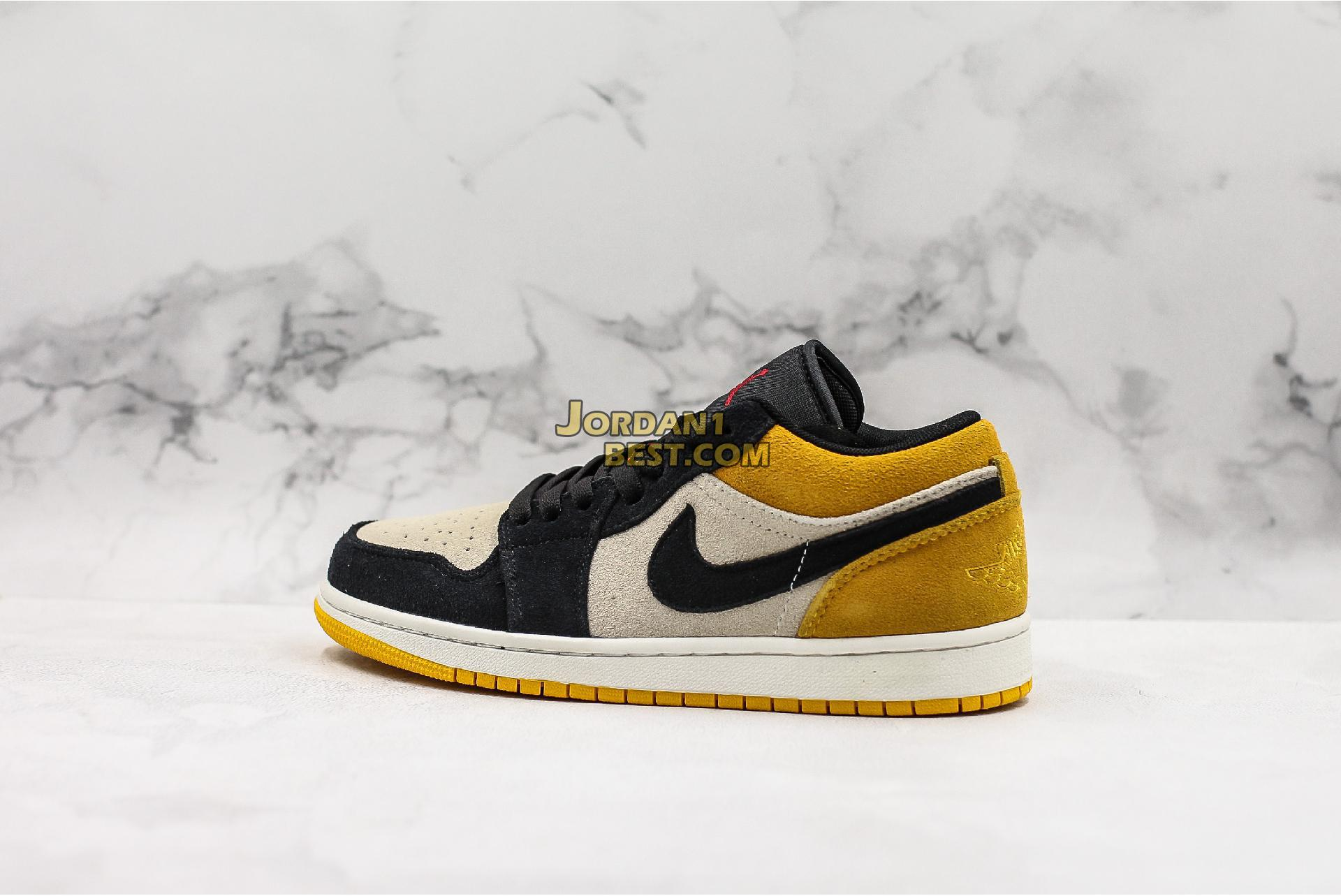 "Air Jordan 1 Low ""University Gold"" 553558-127 Mens Womens"