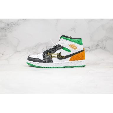 "top 3 fake Air Jordan 1 Mid GS ""Lucky Green"" BQ6931-101 Mens Womens white/laser orange-black-lucky green Shoes replicas On Wholesale Sale Online"