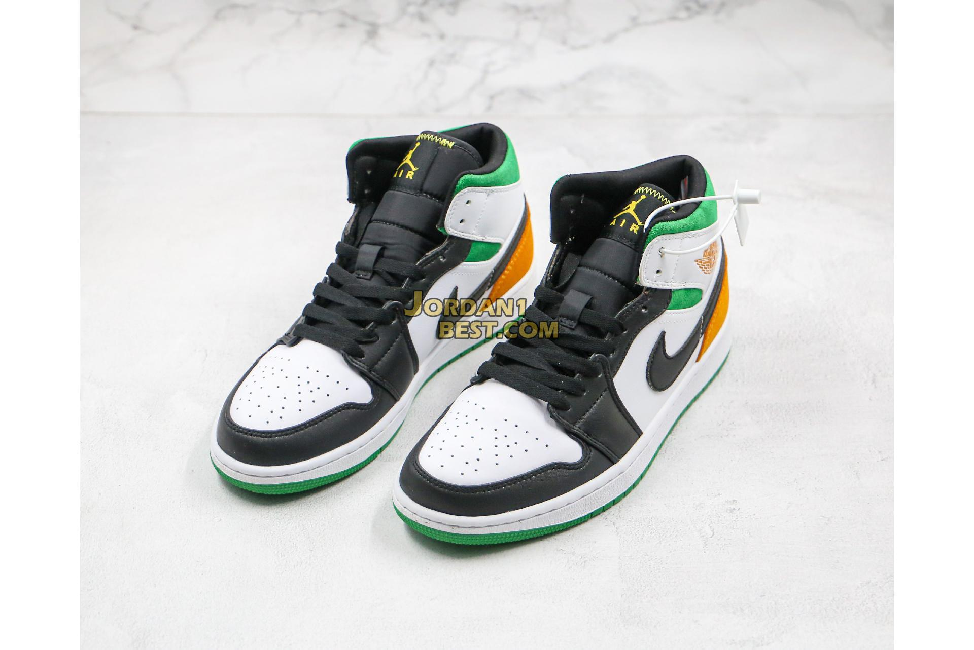 "Air Jordan 1 Mid GS ""Lucky Green"" BQ6931-101 Mens Womens"