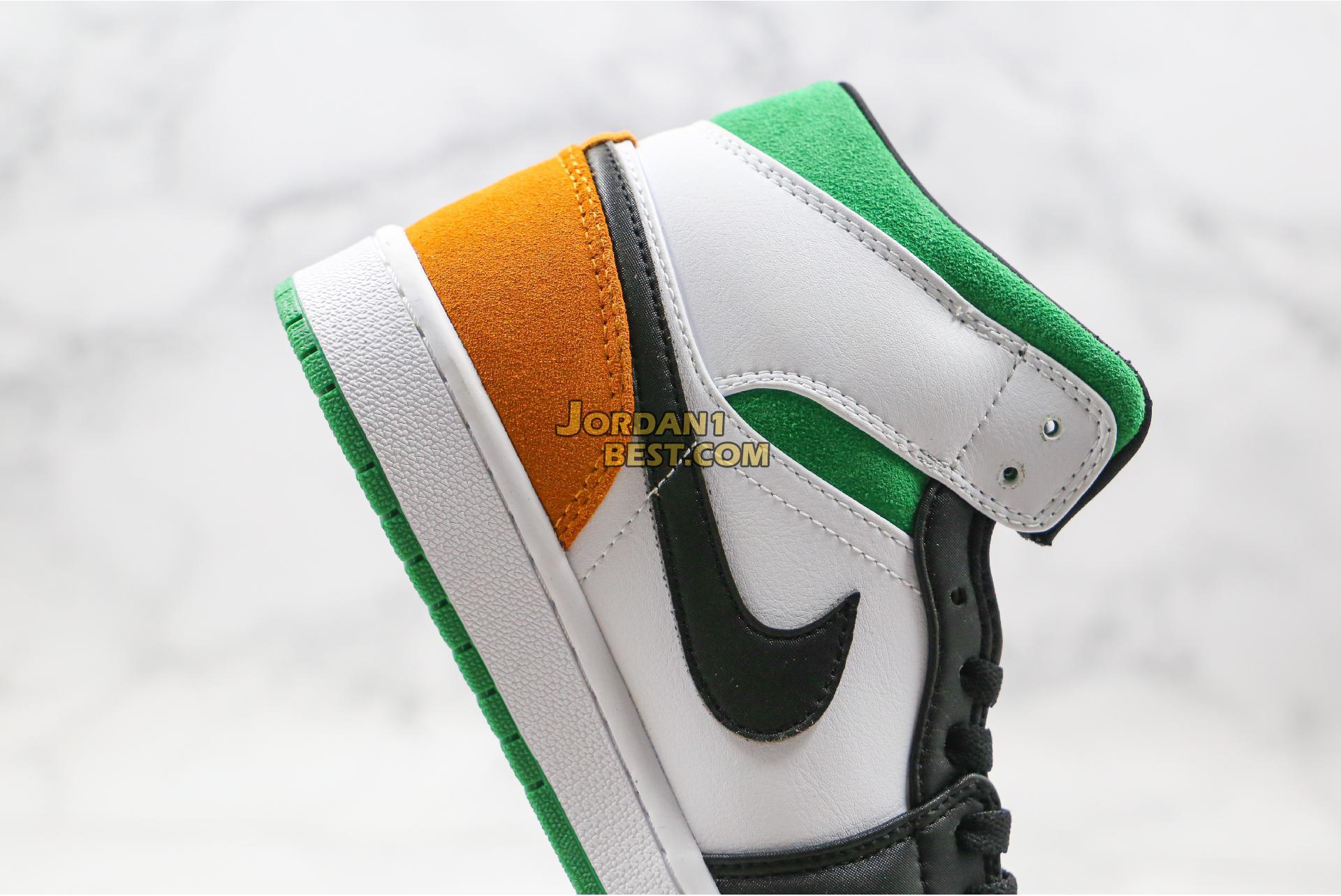 """Air Jordan 1 Mid GS """"Lucky Green"""" BQ6931-101 Mens Womens"""