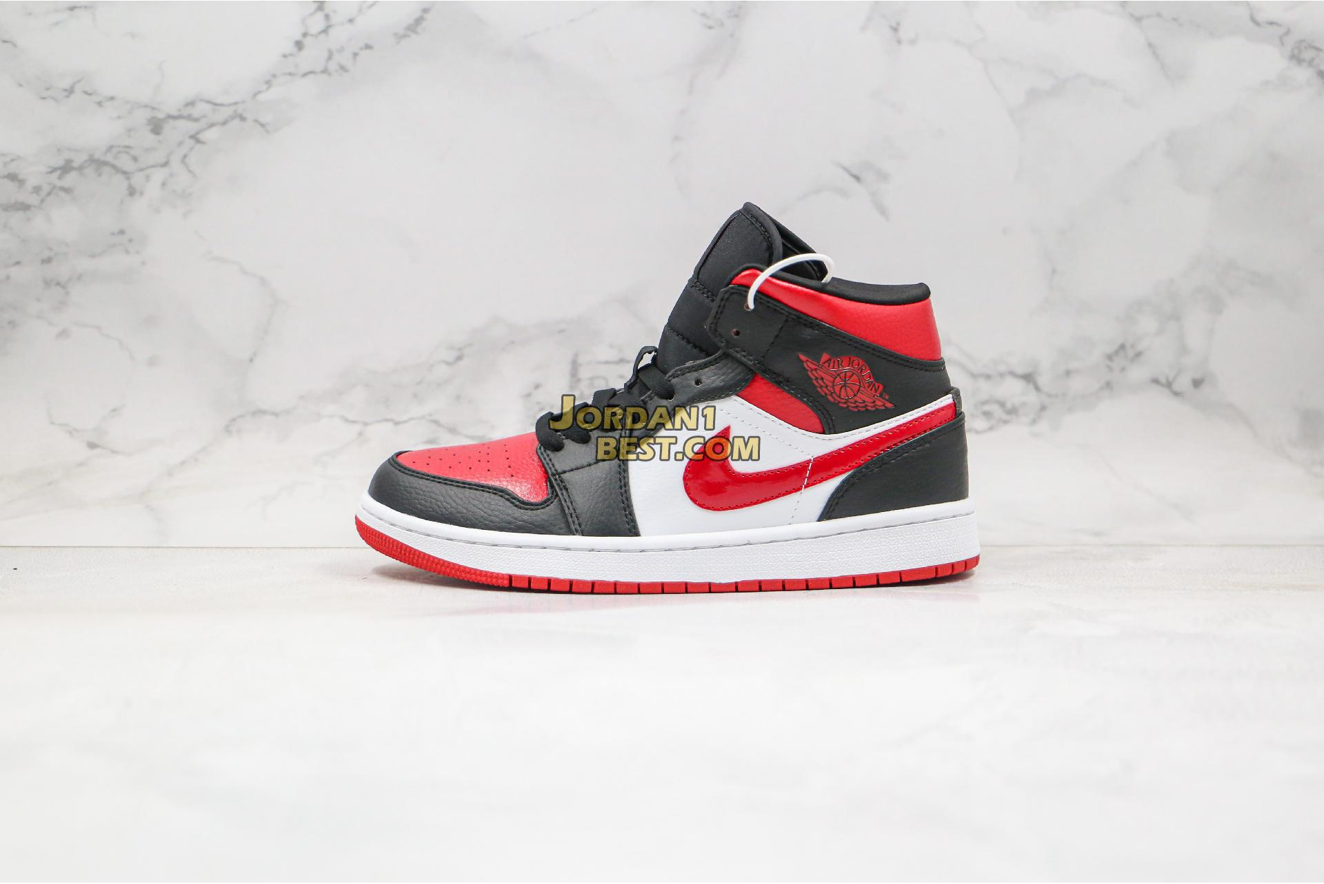 "Air Jordan 1 Mid ""Noble Red"" 554724-066 Mens"