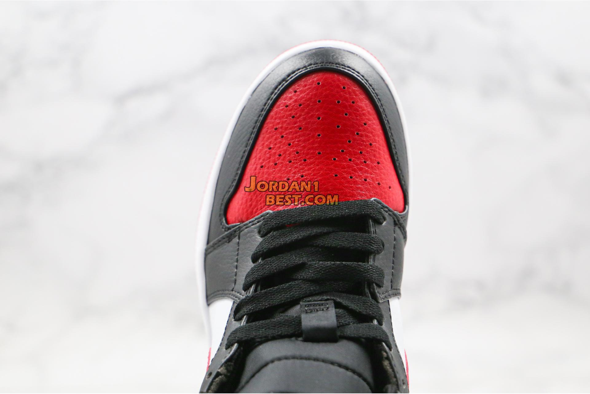 """Air Jordan 1 Mid """"Noble Red"""" 554724-066 Mens"""