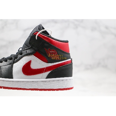 "new replicas Air Jordan 1 Mid ""Noble Red"" 554724-066 Mens black/noble red-white Shoes replicas On Wholesale Sale Online"