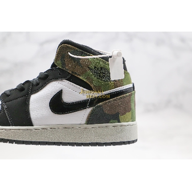 "top 3 fake Air Jordan 1 Mid ""Camo"" CW5490-001 Mens Womens black/white-army olive Shoes replicas On Wholesale Sale Online"