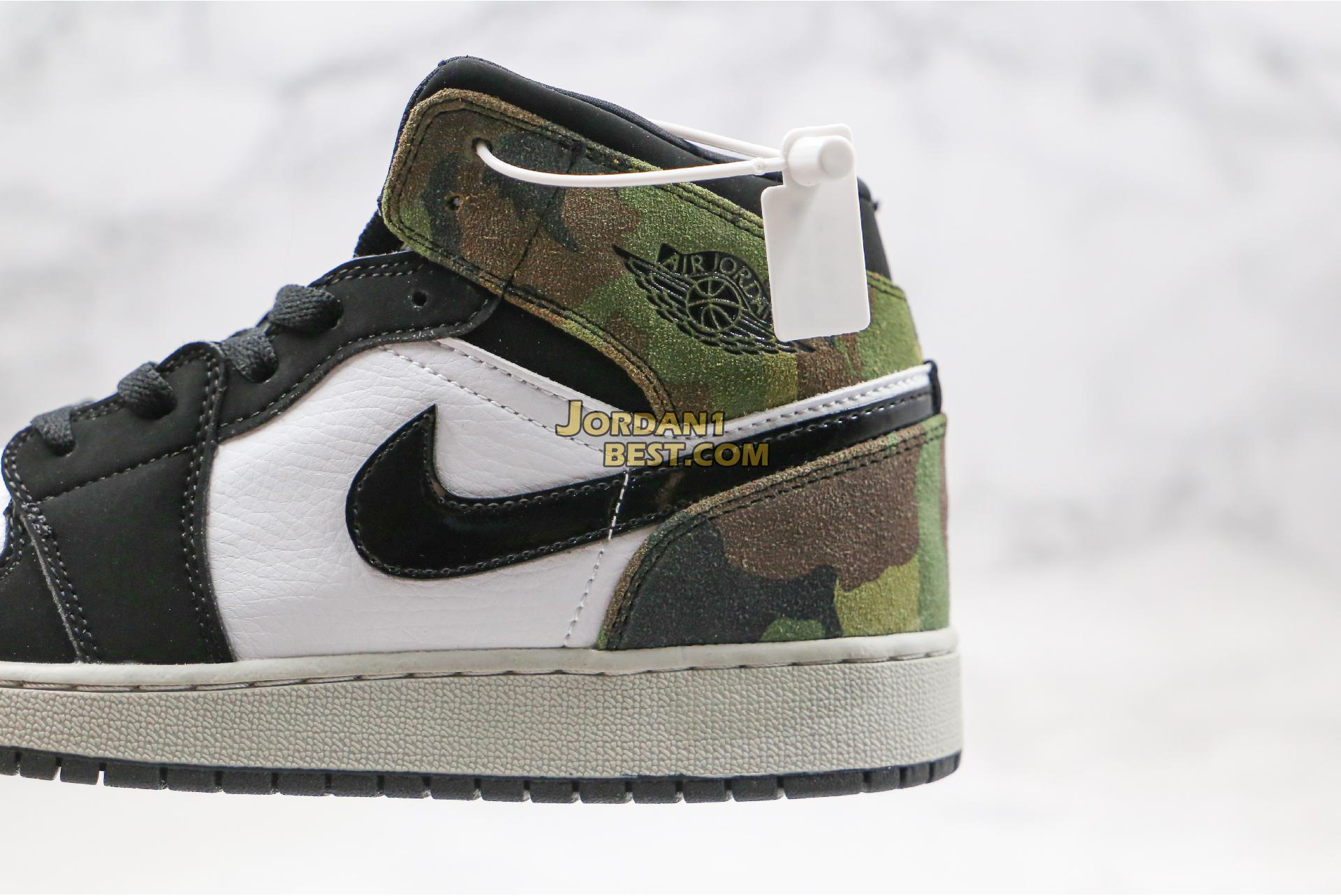"Air Jordan 1 Mid ""Camo"" CW5490-001 Mens Womens"
