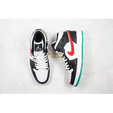 "AAA Quality Air Jordan 1 Mid ""Alternate Swoosh"" BQ6472-063 Mens Womens black/university red-white-lucid green Shoes replicas On Wholesale Sale Online"